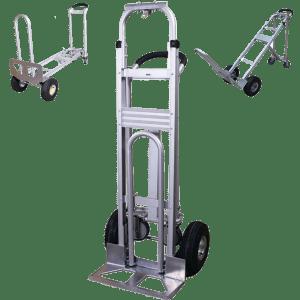 Transport cart DJTR 350 AL – three-positioned: plain, platform and under 45 °.