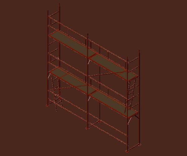 Фасадно скеле GD 42/48 се състои от отделни модули сглобени с щифтове. Работните платформи имат капаци за изкачване във височина.