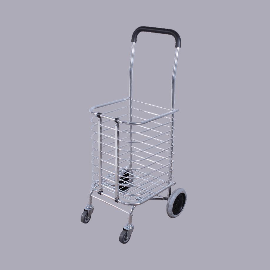 Транспортна количка DJTR 35 AL с алуминиева кошница, лека, сгъваема.