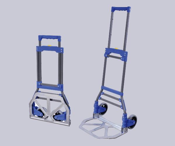 Transport cart DJTR 50 ST AL - general view. Foldable construction, two wheels, telescopic frame.