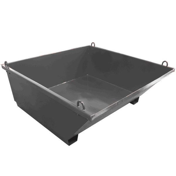 Вана за строителни отпадъци, произведена от стомана и е част от ситема за отвеждане на строителни отпадъци.