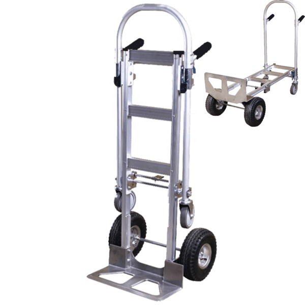 Transport cart DJTR 350 AL – two-positioned with smooth transition to a platform trolley.