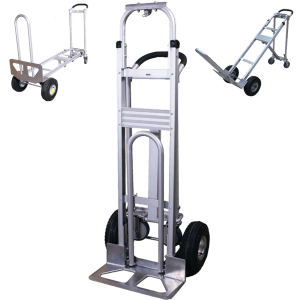Transport cart DJTR 350 AL – three-positioned: plain, platform and under 45 °.