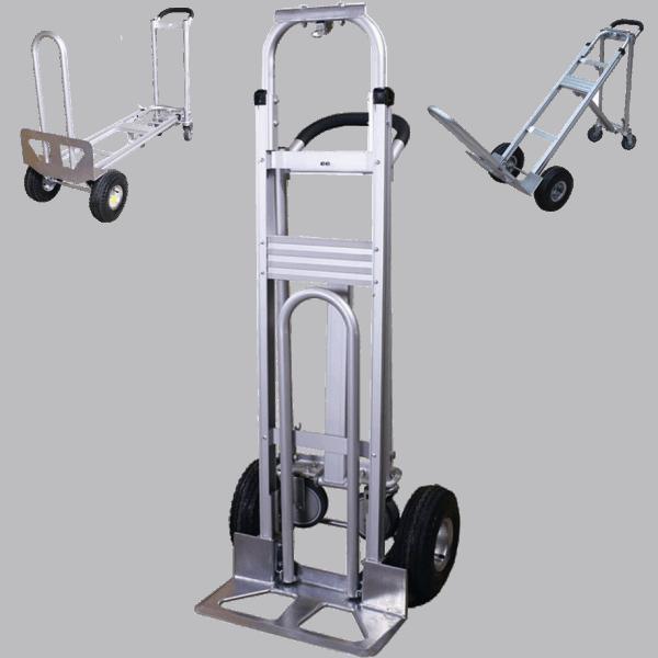 Транспортна количка DJTR 350 AL-трипозиционна: обикновена, платформена и под 45°.