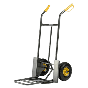 Transport cart DJTR 924 ST with a falling platform with a magnet. Robust construction.