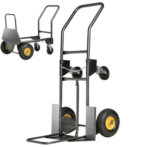 Transport cart DJTR 950 ST for carrying volumetric loads and easy movement on ladders and bumps.