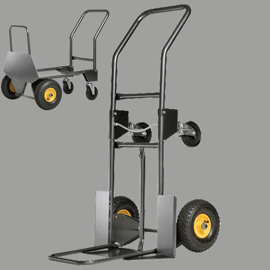 Транспортна количка DJTR 950 ST за пренос на обемни товари и лесно движение по стълби и неравности.