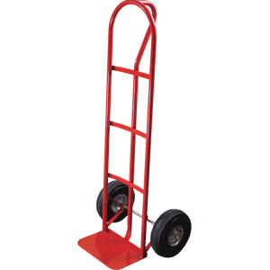 Transport cart DJTR 200 ST - steel, ribbed with P-shaped handle.