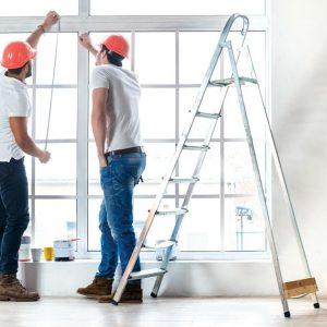Строителни стълби