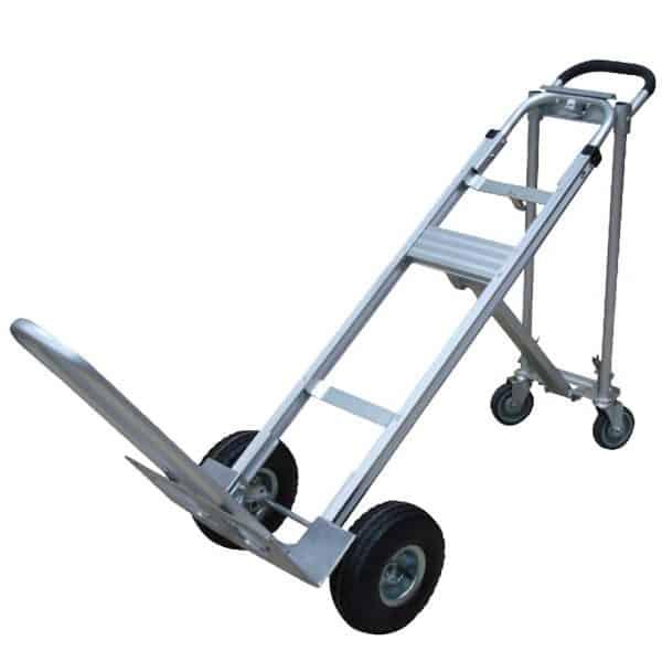 Транспортна количка DJTR 350 AL – трипозиционна под ъгъл 45 градуса е дина от трите работни позиции в които се ползва количката.