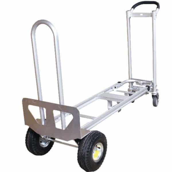 Транспортна количка DJTR 350 AL – трипозиционна платформена. На снимката е показана варианта на платформена количка.