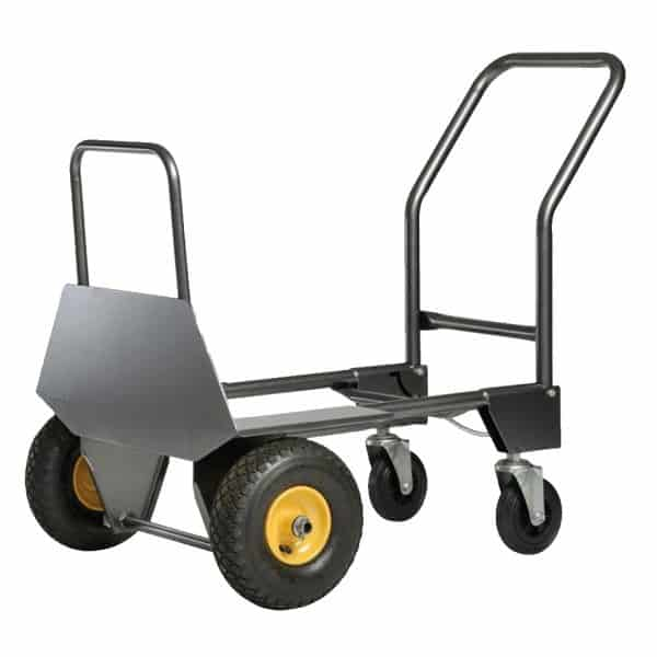 Transport cart DJTR 950 ST in platform position. The picture shows the position of a trolley.