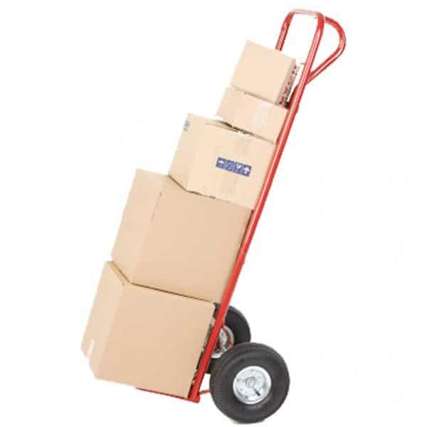 Транспортна количка DJTR 200 ST - на снимката е показана натоварена количка от този модел.