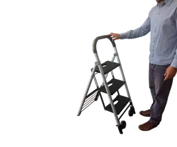 Transport cart / ladder DJTR 120 - the ladder function has three steps and can be used by people weighing up to 120 kg.