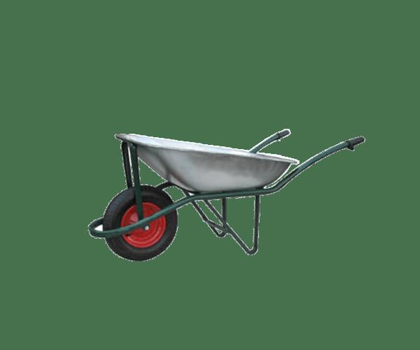 Строителна количка DJTR 085 RK е с вместимост от 85 л., рамката е неразглобяема тръбна конструкция. Върху нея е монтиран коша, а в предната част има обръщало и колело.