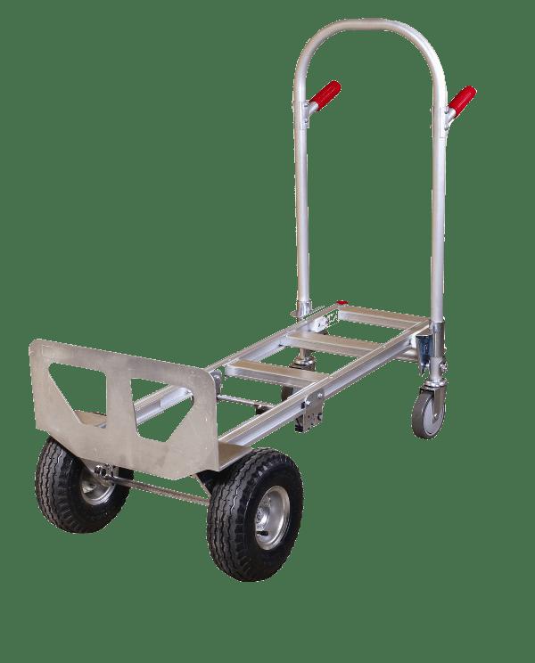 Транспортна количка DJTR 350 AL – позиция платформена. На снимката е показан варианта на платформена количка.