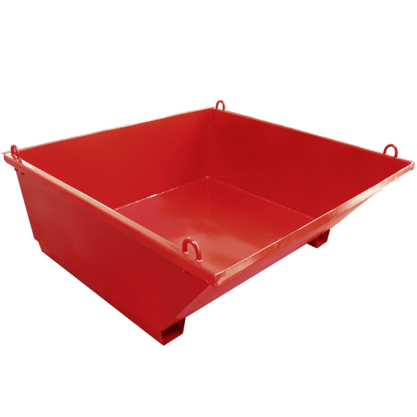 Tub for construction waste made of steel and is part of a construction waste disposal system.