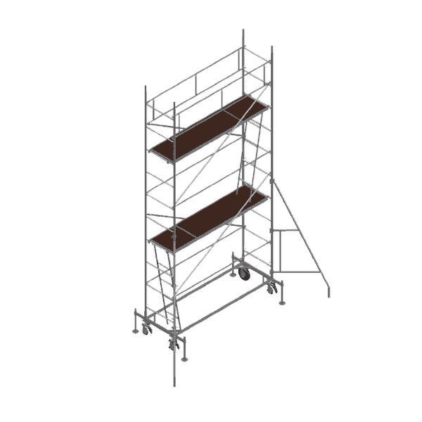 Mobile scaffolding DT 250/60 has a tubular construction and a maximum working height of 12 m.