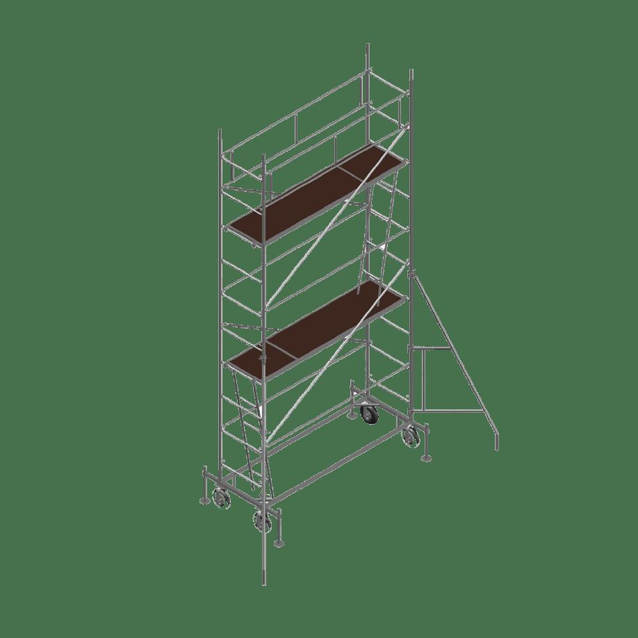 Мобилно скеле DT 250 / 60 е с тръбна конструкция и за максимална работна височина 12 м.