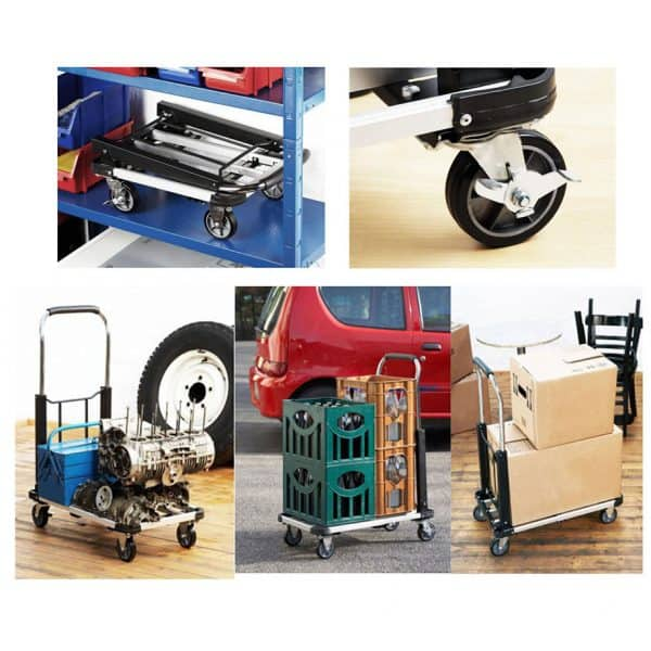 Aluminium platform cart - storage, construction, use. A general picture of the possibilities of this model cart.