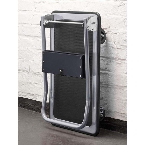 Platform cart K2-300 with folded handle is convenient for storing.
