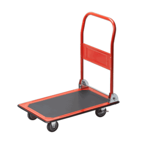 Platform cart K1-150 - general view of this wheelchair model - 4 wheels, platform, folding handle.