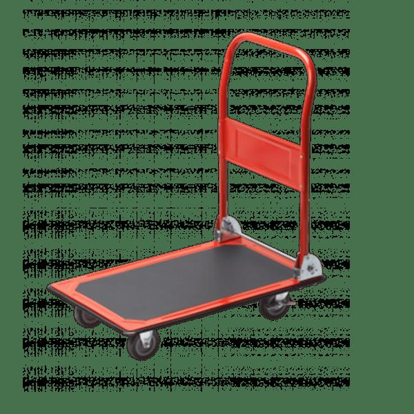 Платформена количка K1-150 - общ изглед на този модел количка - 4бр колела, платформа, сгъваема ръкохватка.
