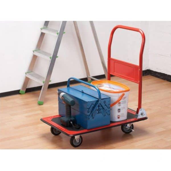 Платформена количка K1-150 - пренасяне на материали и инструменти в затворено помещение.