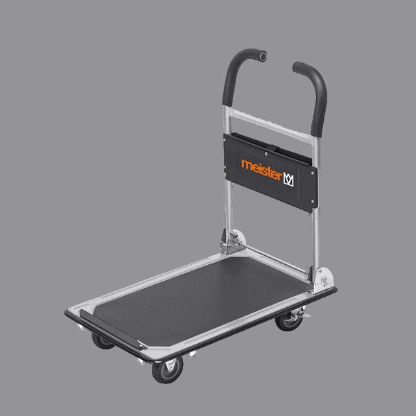 Платформена количка K2M-150 - общ изглед. Този модел е предвиден за транспорт на дълги товари.