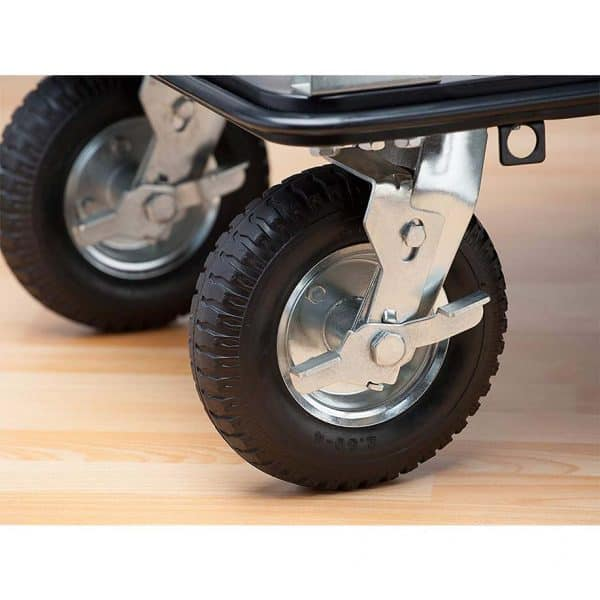 Platform cart K3M-300 - rear wheels with brakes.