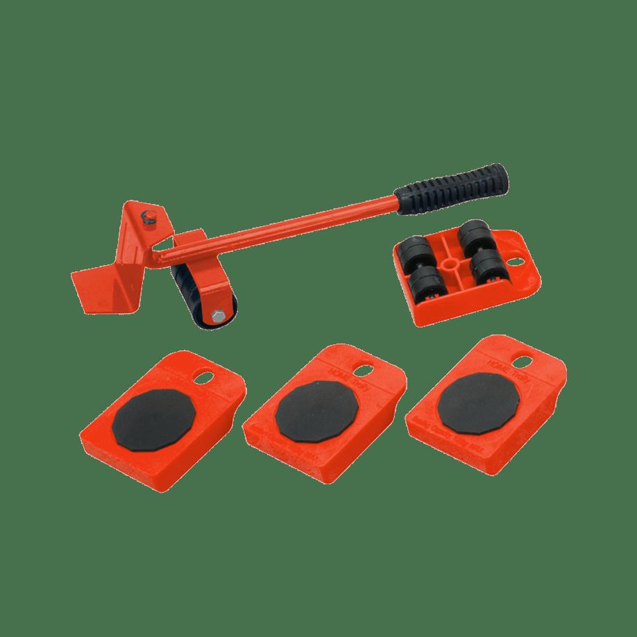 Комплект за пренасяне на мебели от 5 части - рамо за повдигане и 4 броя подложки на колела.