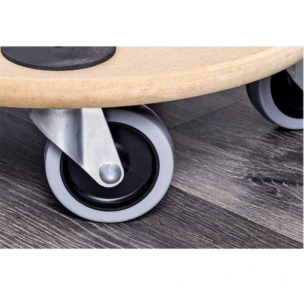 Мобилна поставка, кръгла Meister с четири колела за лесно насочване и придвижване.