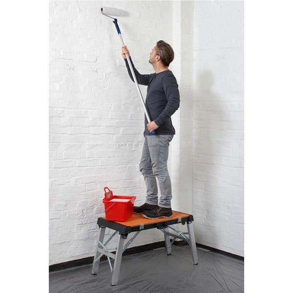 Преносима работна маса 4 в 1 Meister - приложение платформа. Това замества използването на стълба.