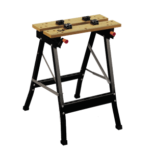Работна маса Meister - сгъваема конструкция с метална рамка и и два дървени плота.