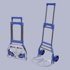 Транспортна количка DJTR 50 ST AL-общ изглед. Сгъваема конструкция, две колелета, телескопична рамка.