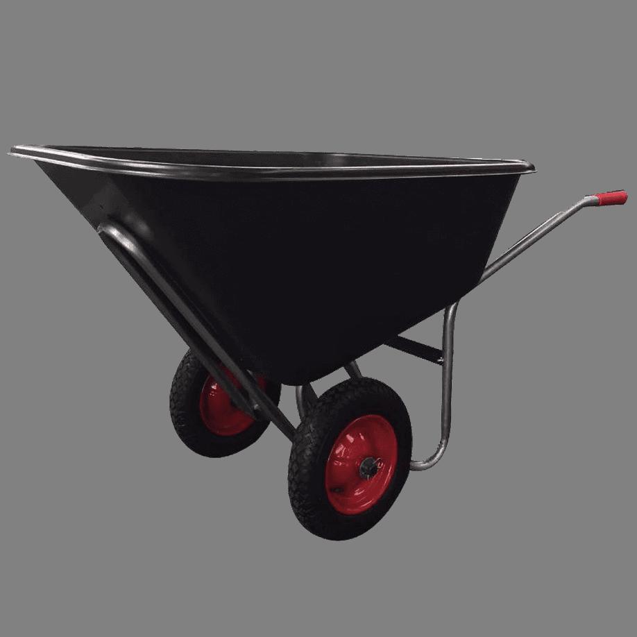 Градинска количка DJTR-160 е с две колелета и е удобна за по тежки и обемни товари.