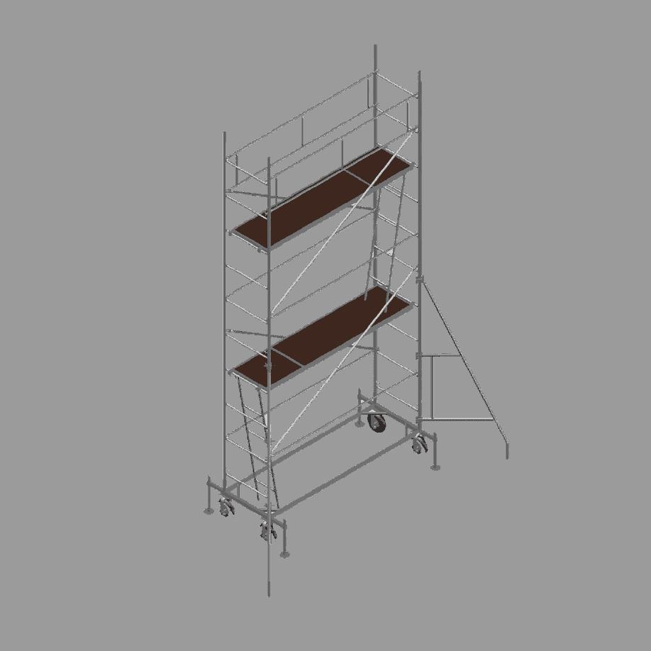 Мобилното скеле DT 250 / 60 представлява мобилна платформа, изградена от тръбно-рамкова конструкция. Служи за краткосрочни ремонтни дейности