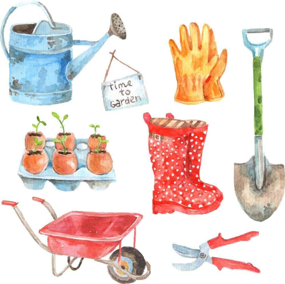 Преди началото на активната градинска дейност, инструментите трябва да са готови. Градинската количка е много важна.