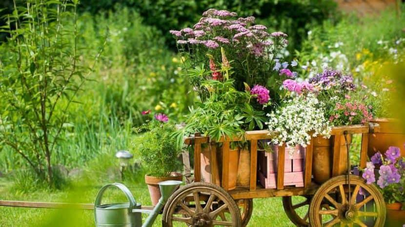 Градинската количка е пръв помощник за пренасяне на инструменти в градината