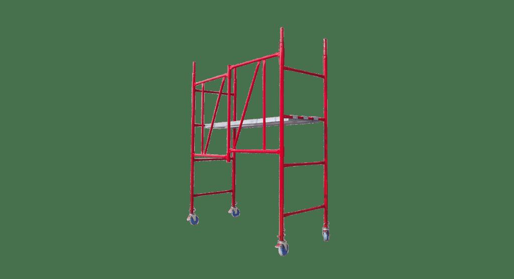 Предназначено е за ползване предимно от домашния майстор. С него ще достигате до 4 метра височина.