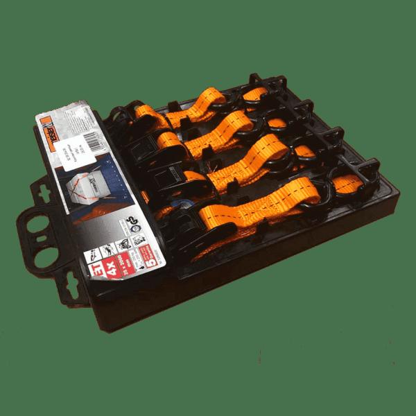 Комплект колани (4бр.) са подходящи за укрепване и на по-обемни товари. Те са изработени от полипропилен.