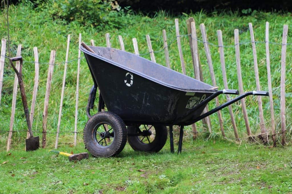 градинска количка с голямо корито