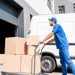 Куриер с транспортна количка